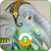 Elephant Ganesh Wall & Lock