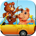 Animal Car Puzzles for Kids icon