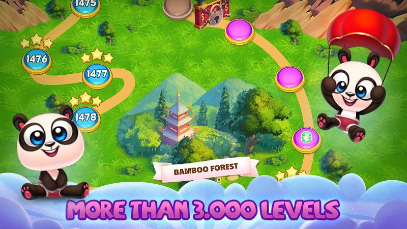 Panda Pop! Bubble Shooter Saga & Puzzle Adventure Screenshot 1