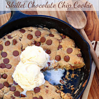 One Pan Skillet Chocolate Chip Cookie.