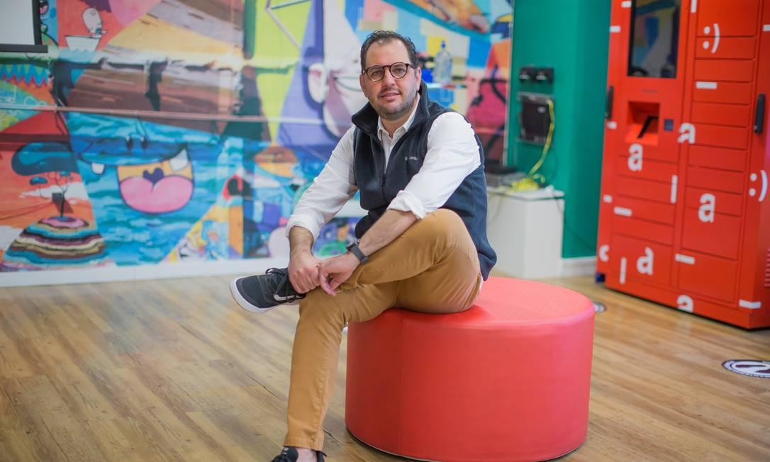 Marco Zolet, CEO da plataforma SuperNow, uma start-up comprada recentemente pela B2W Digital, dona das marcas Americanas.com e Submarino Foto: Edilson Dantas / Agência O Globo