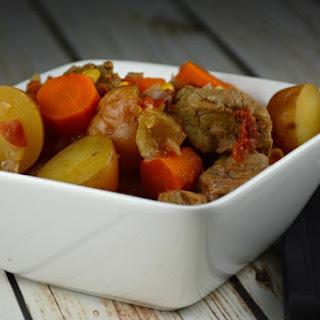 Simple Slow Cooker Steak Stew.
