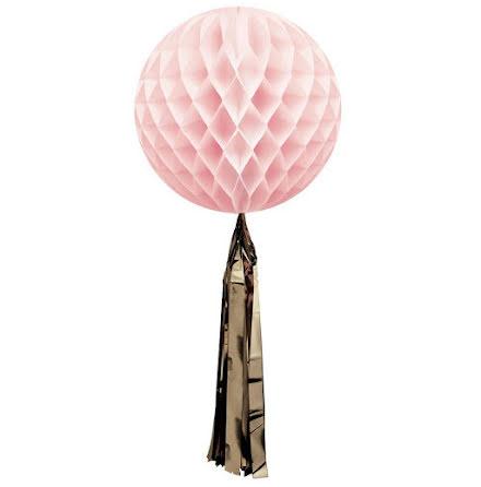 Honeycomb med tassel - rosa