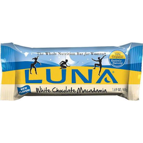 Clif Bar Luna Bar White Chocolate Macadamia Box of 15