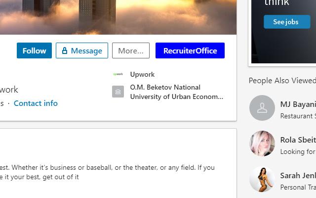 Linkedin Recruiter Office Extension
