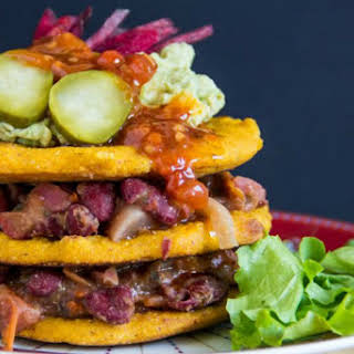 Taco Cornmeal Pancakes [Vegan, Gluten-Free].