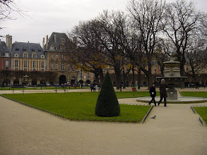 Photo: One of my favorite stops in Paris, the Place des Vosges, the oldest square in the city. It has always been a very desirable address since it was created by Henri IV early in the 17th century.