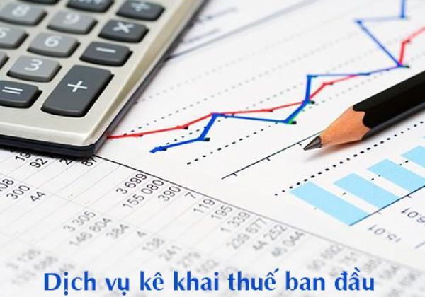 Dịch vụ khai báo thuế ban đầu