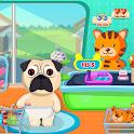 Baby Pug Supermarket: Pet Cash Register Shop icon