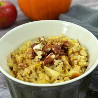 Spiced Pumpkin and Apple Oatmeal.