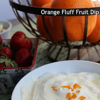 Orange Fluff Fruit Dip.