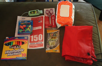 Photo: We are donating a huge bag of school supplies to Josiah's school, Pleasant Hills Montessori.