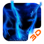 Lightning Storm Tech 3D Theme Icon
