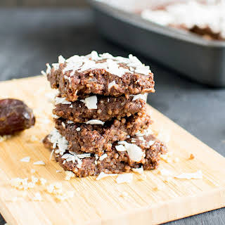 No Bake Chocolate Coconut Quinoa Brownies.