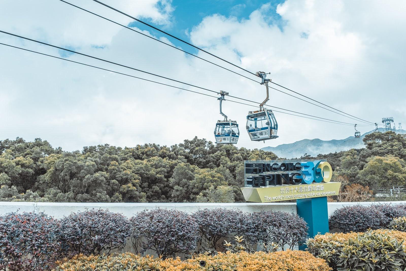昂坪纜車因為海上纜車的高度落差與景色,被譽為世界十大纜車體驗之一。
