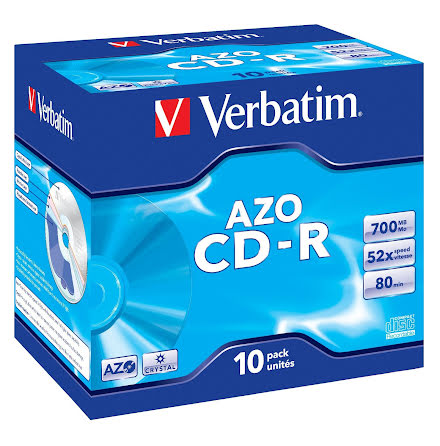 CD-R Verbatim Jewelcase 10/fp
