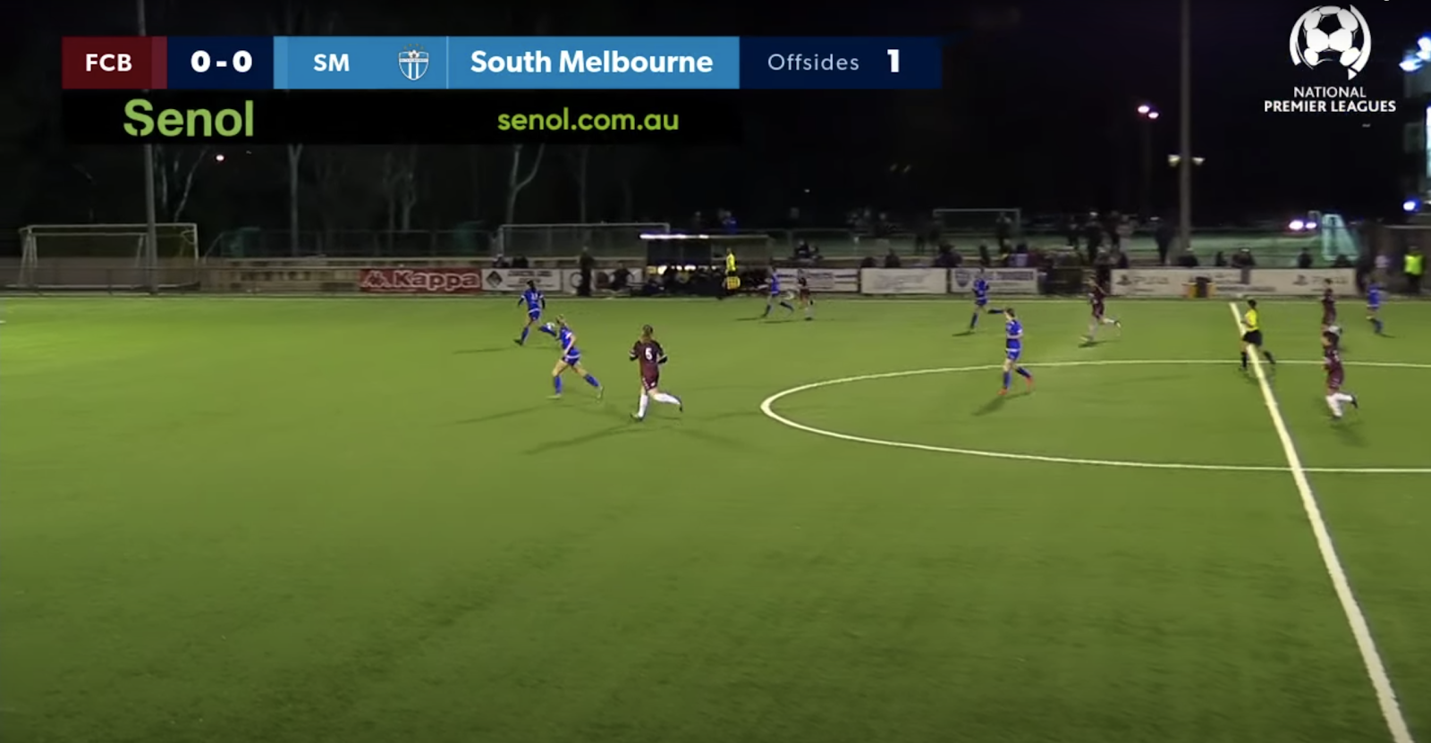 Bulleen Lions vs. South Melbourne in the National Premier Leagues Women's. Source: https://www.youtube.com/watch?v=8YJ95uqehFY