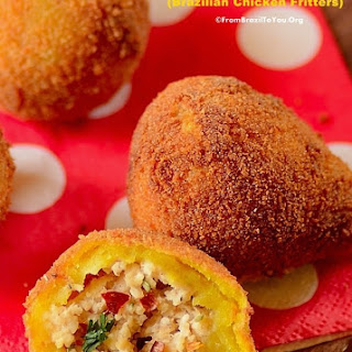 Brazilian Chicken Fritters (Coxinha de Frango)
