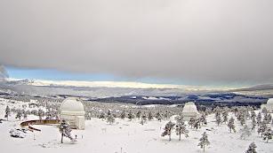 Panorámica de Filabres desde Calar Alto tras la nevada de ayer (Foto: Eduardo Romay).