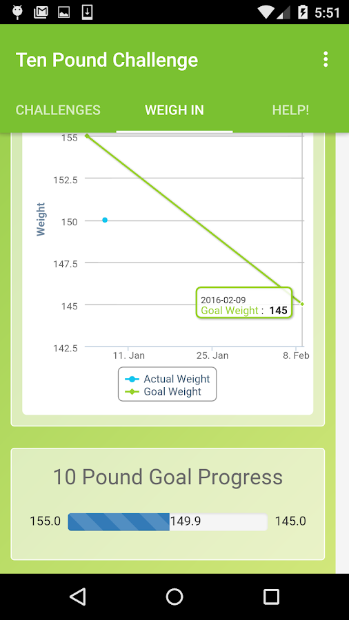 10 Pound Challenge- screenshot