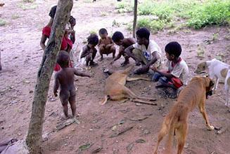 Photo: A transmissão de valores e conhecimentos acontecem através da observação e da oralidade. As crianças aprendem cedo o que serve e o que não serve para alimentação e cultivo.