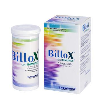 SUPLEMENTO DIETARIO   BILLOX CON IMMUNEX CAJA X30TAB.NOVAMED