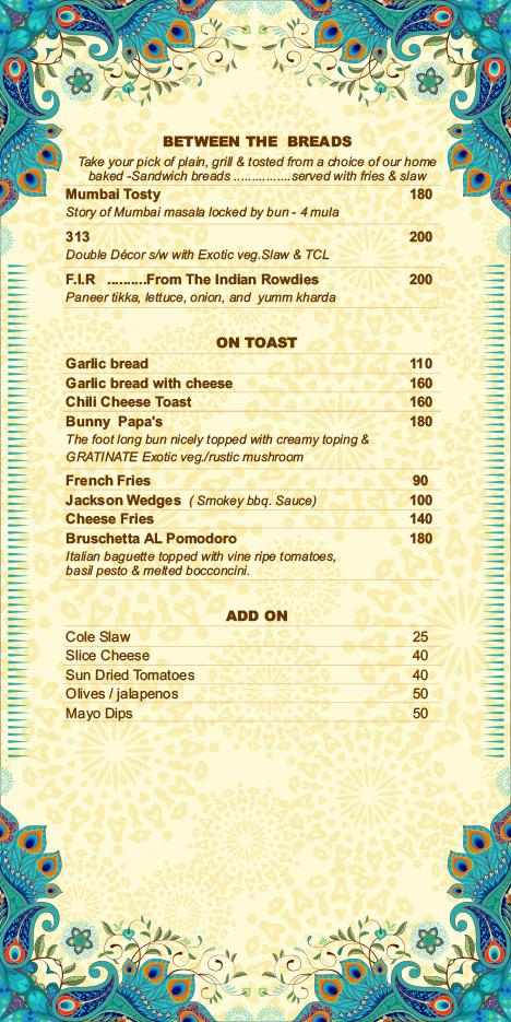 Hare Krishna menu 5