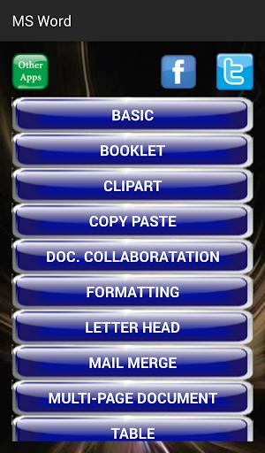 Learn MS Word Offline