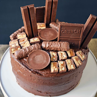 Chocolate Cake With Candy Bars Recipes