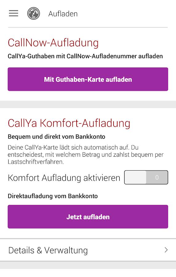 MeinCallYa- screenshot