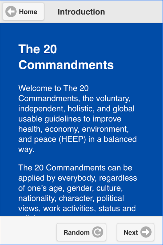 The 20 Commandments Trainer – Screenshot
