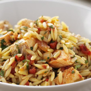 Trout and Orzo Stew