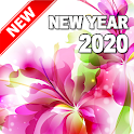Happy New Year 2020 (Flowers) icon