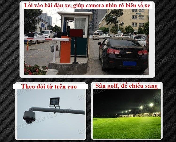 Đèn led hỗ trợ camera nhìn đêm rõ biển số xe Đèn led hỗ trợ camera nhìn đêm rõ biển số xe