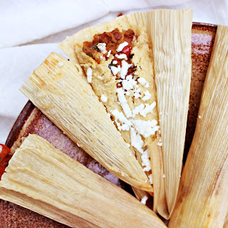 Vegetarian Tamales with Pinto Beans