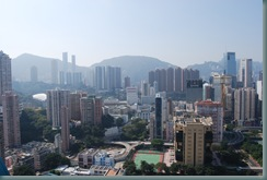 View of Hong Kong from roof balcony of the Metropark Hotel, Causeway Bay, Hong Kong