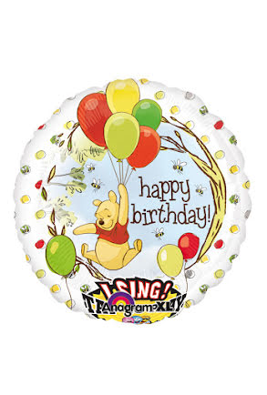 Folieballong Nalle Puh, sjungande
