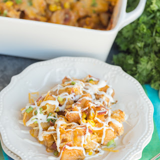 Buffalo Chicken and Potato Casserole.
