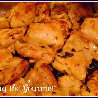 Sautéed Boneless Chicken Thighs