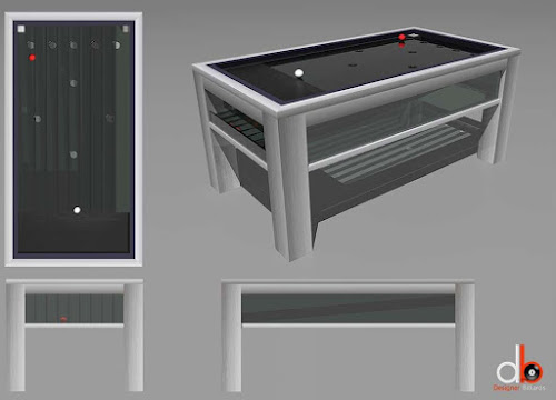 Concept Game Table with a red and white ball