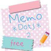 Sticky Memo Notepad *Dots* 2 Lite