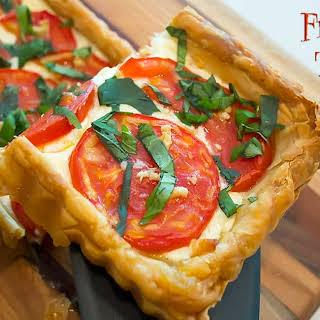 Fresh Tomato Tart in Puff Pastry.