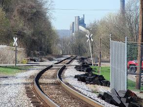 Photo: Looking up the Tracks towards the locks