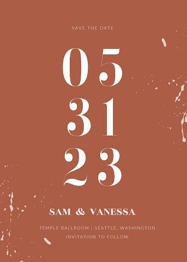 Sam & Vanessa's Wedding - Wedding Invitation template