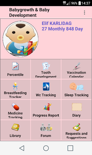 Baby Growth and Care Breastfeeding screenshot