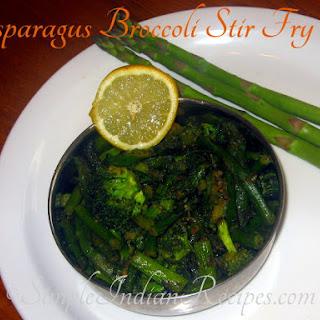 Asparagus Broccoli Stir Fry.