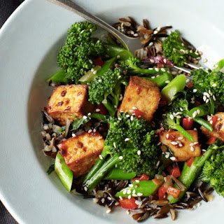 Teriyaki Tofu Broccolette On Wild Rice