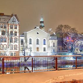 Opolska Młynówka by Marta Bednarska - Buildings & Architecture Public & Historical ( opole night mlynowka )