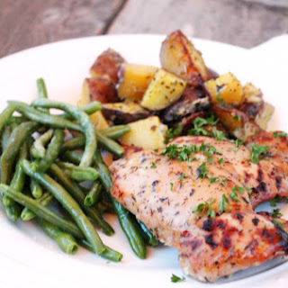 {Recipe} Honey Dijon Roasted Chicken with Herbed Potatoes