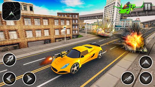 Flying Car Games 2020- Drive Robot Shooting Cars 1.0 screenshots 14